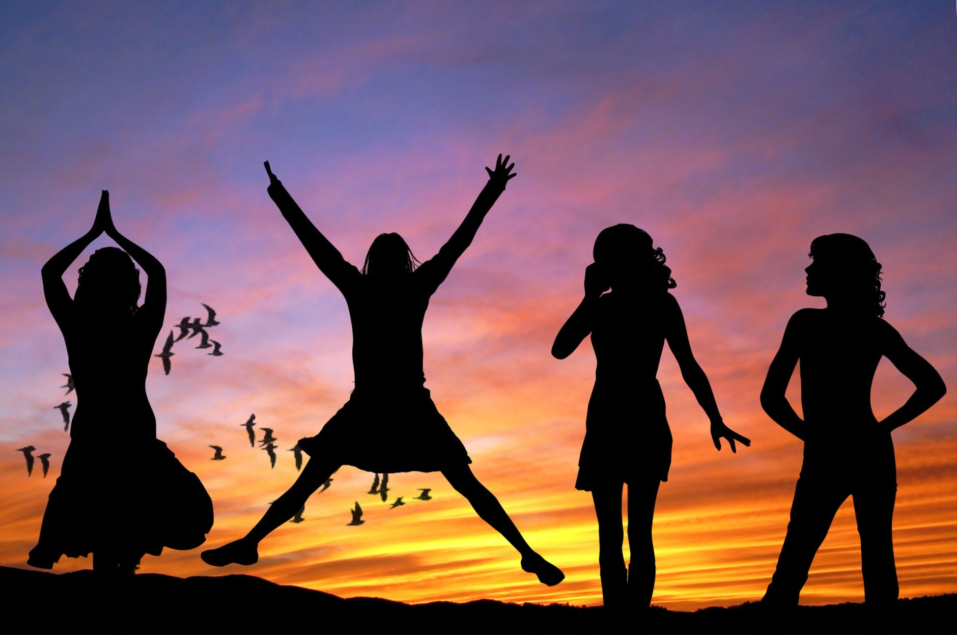 Kvinder hopper