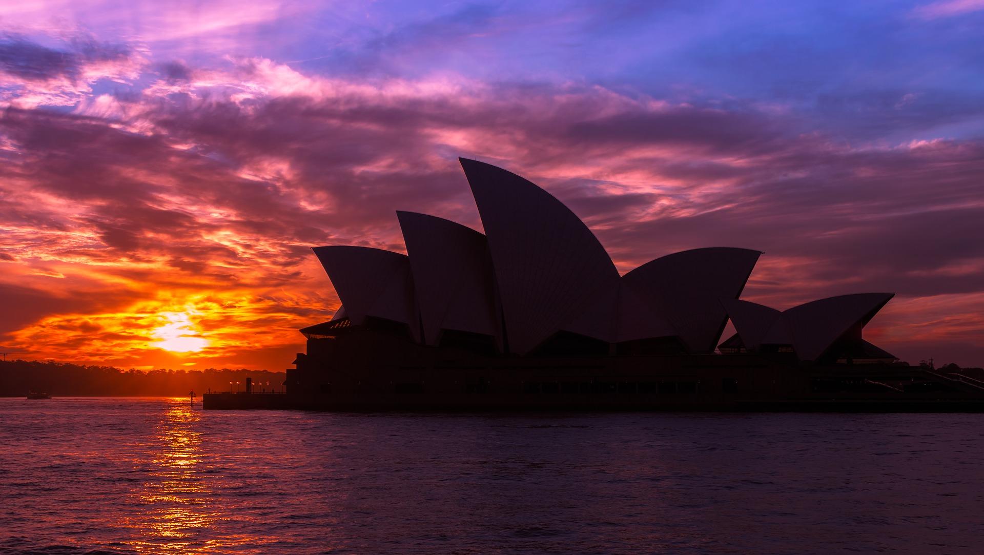 Solnedgang i Sydney