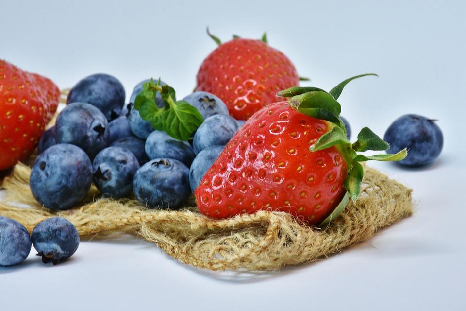 Jordbær og blåbær